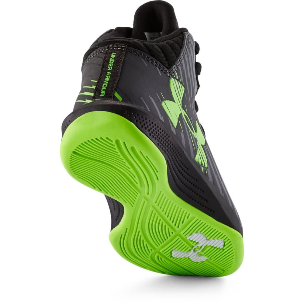 UNDER ARMOUR Boy's Jet Basketball Shoes, 11, 12, 13, 1-3 - BLACK