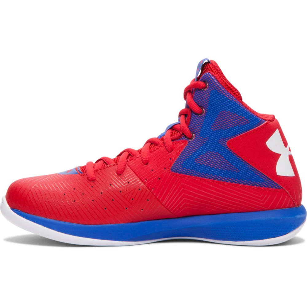 UNDER ARMOUR Boys' Rocket Basketball Shoes - RED