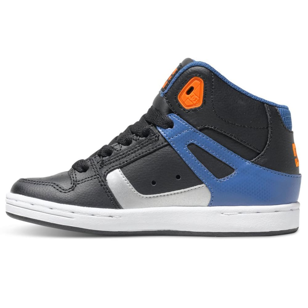 DC Boy's Rebound High Top Shoes - STEALTH LINE METER