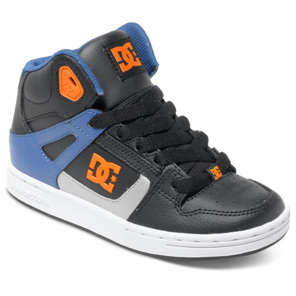 DC Boy's Rebound High Top Shoes - STEALTH LINE METER