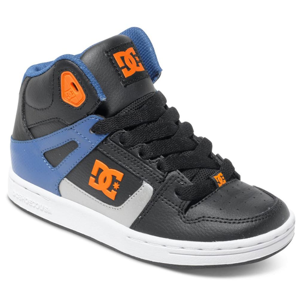 DC SHOES Boy's Rebound High-Top Sneakers - STEALTH LINE METER