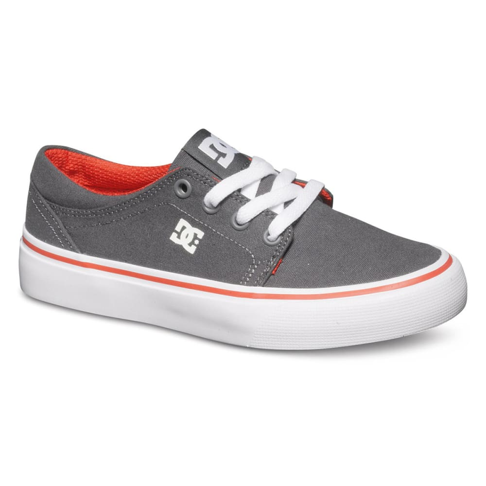 DC SHOES Boys' Trase Tx Shoes - CHARCOAL/WHITE