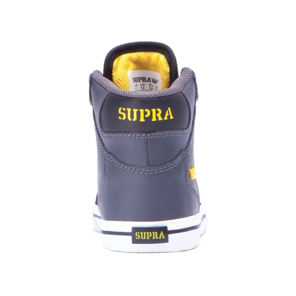 SUPRA Boys' Vaider Shoes - GREY/BLACK