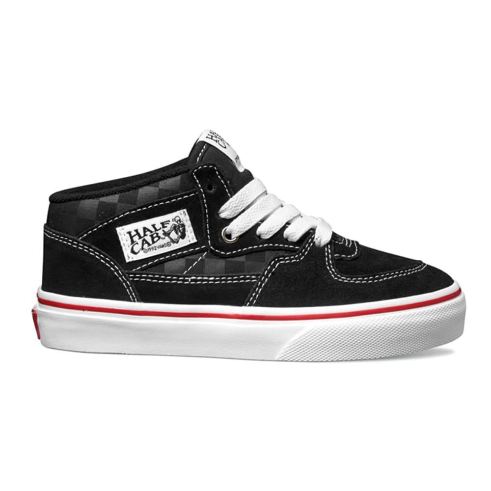 VANS Boys' Tonal Check Half-Cab Shoes - BLACK/WHITE