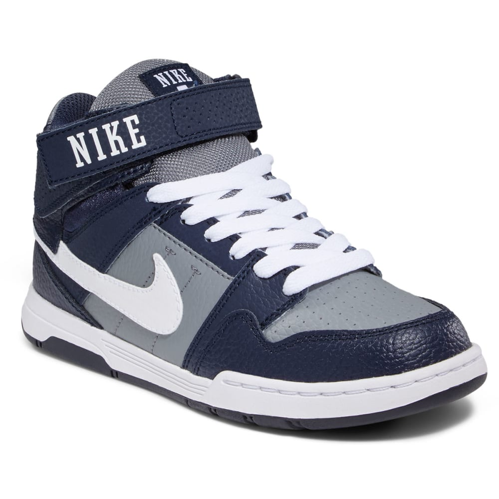 NIKE Boy's Mogan Mid 2 Jr. Skateboarding Sneakers - GREY/WHITE/OBS