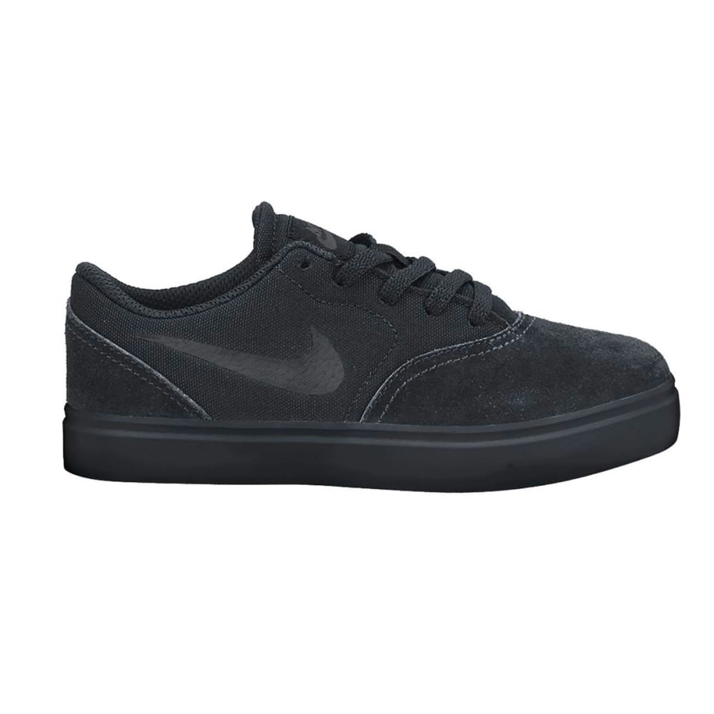 NIKE SB Boys' Check Skate Shoes - BLACK/ANTHRACITE