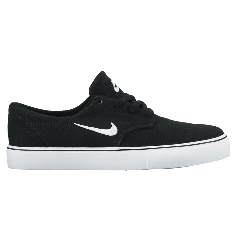 NIKE SB Boys' Clutch Skate Shoes - BLACK/WHITE
