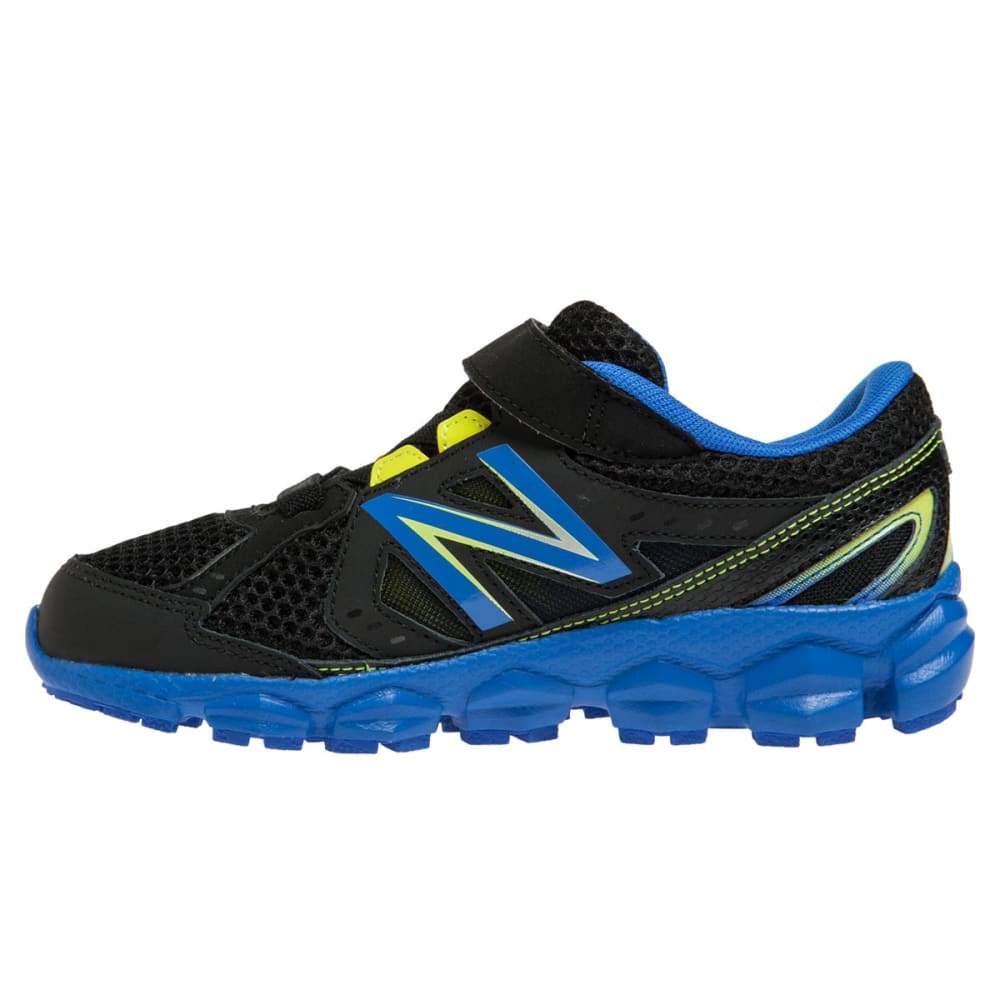 NEW BALANCE Boys' KV750 Shoes, Medium, 11-13, 1-3 - BLACK/BLUE