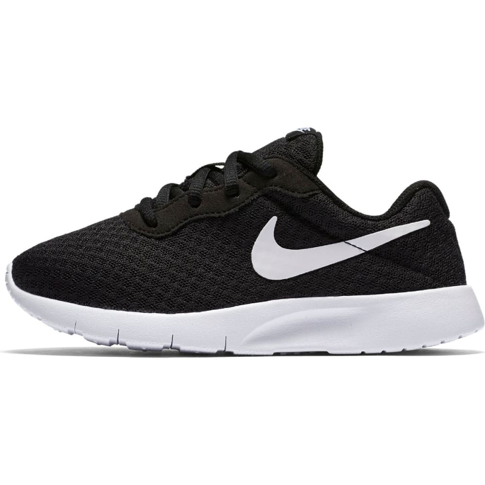 NIKE Kids' Tanjun Shoes - 011 BLACK WHITE