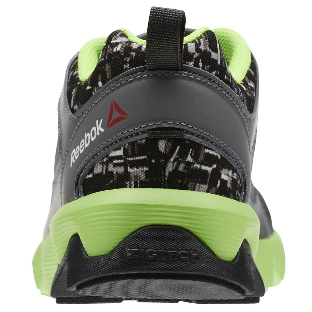 REEBOK Boy's ZigRise Running Shoes - BLACK/NEPTUNE