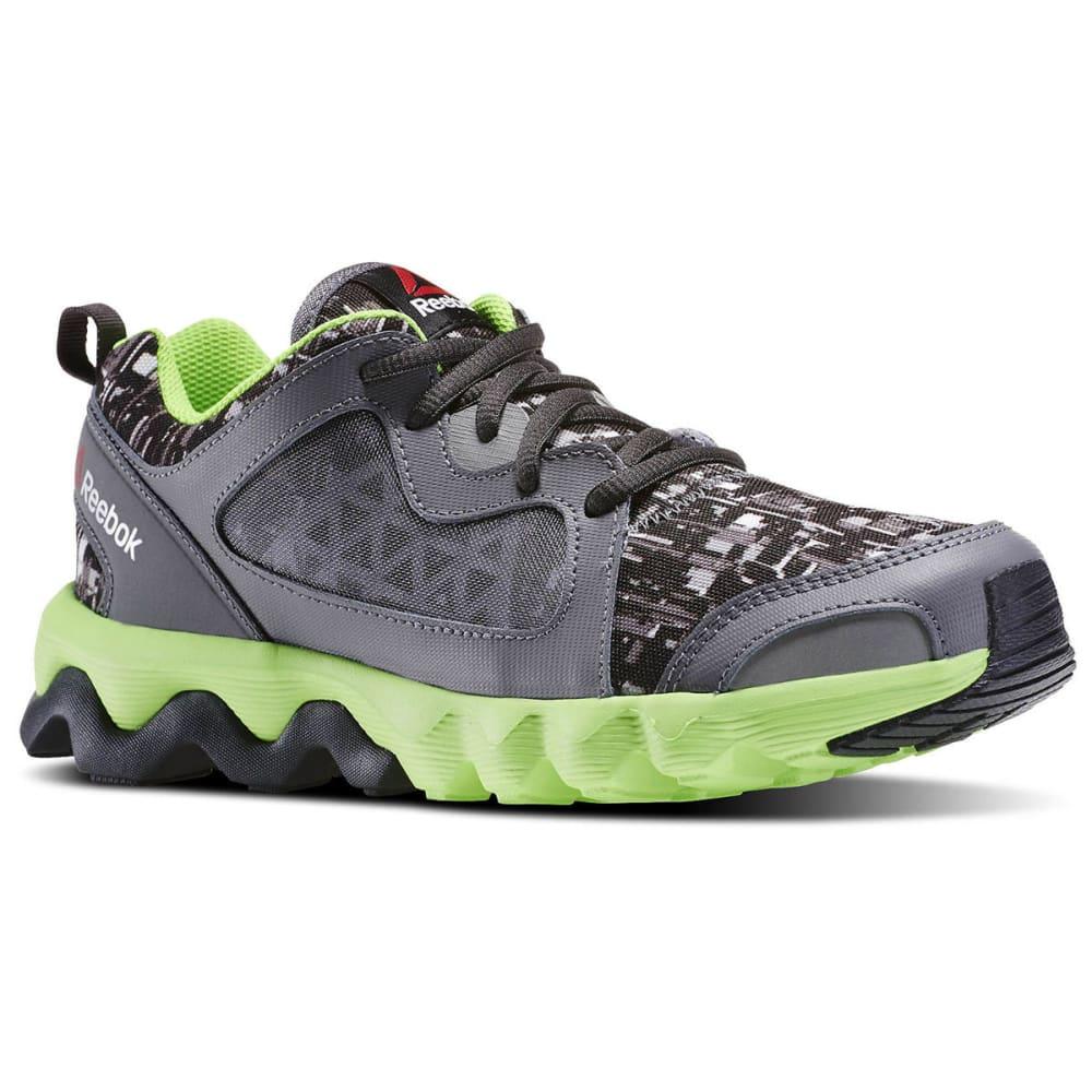 REEBOK Boy's ZigRise Running Shoes - BLACK/NEPTUNE