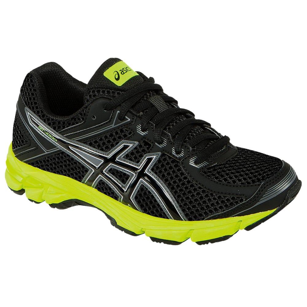 ASICS Boy's GT 1000 4 Running Shoes - BLACK/ONYX/FLASH