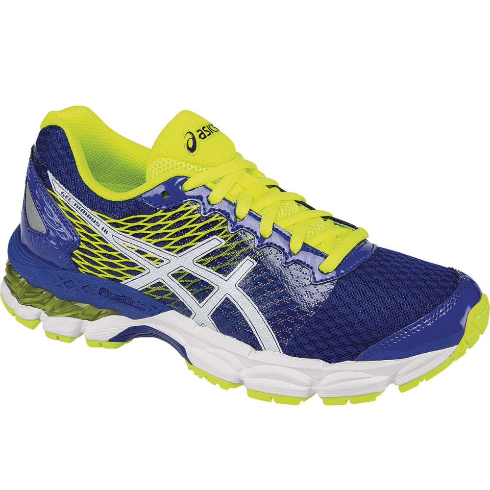 ASICS Boys' GEL-Nimbus 18 Running Shoes - BLUE/WHITE/YELLOW