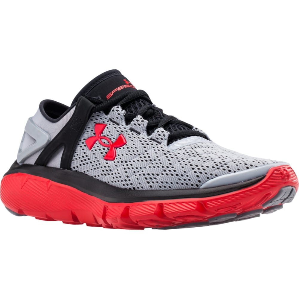 UNDER ARMOUR Boys' SpeedForm® Fortis Running Shoes - GRANITE HEATHER/OXFO