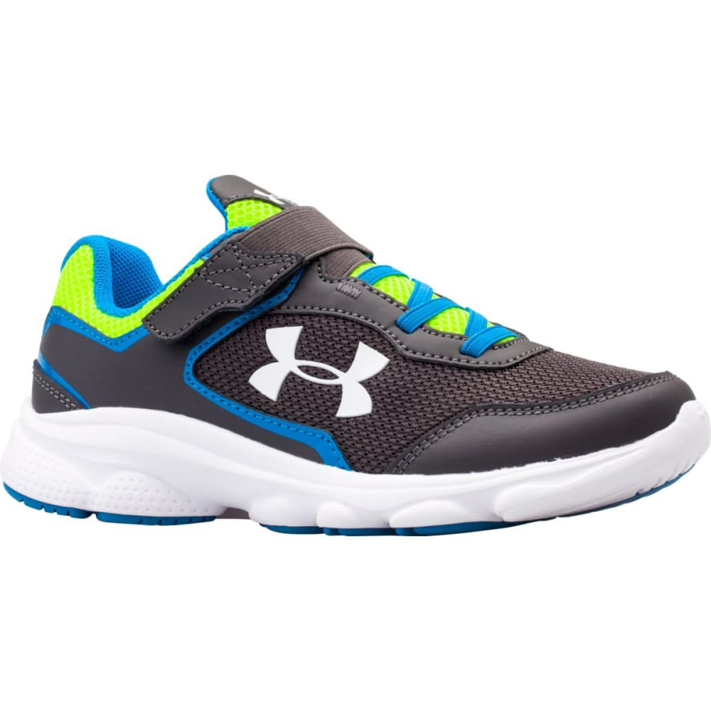 UNDER ARMOUR Boys' Escape Run AC Sneakers - CHARCOAL/BLUE