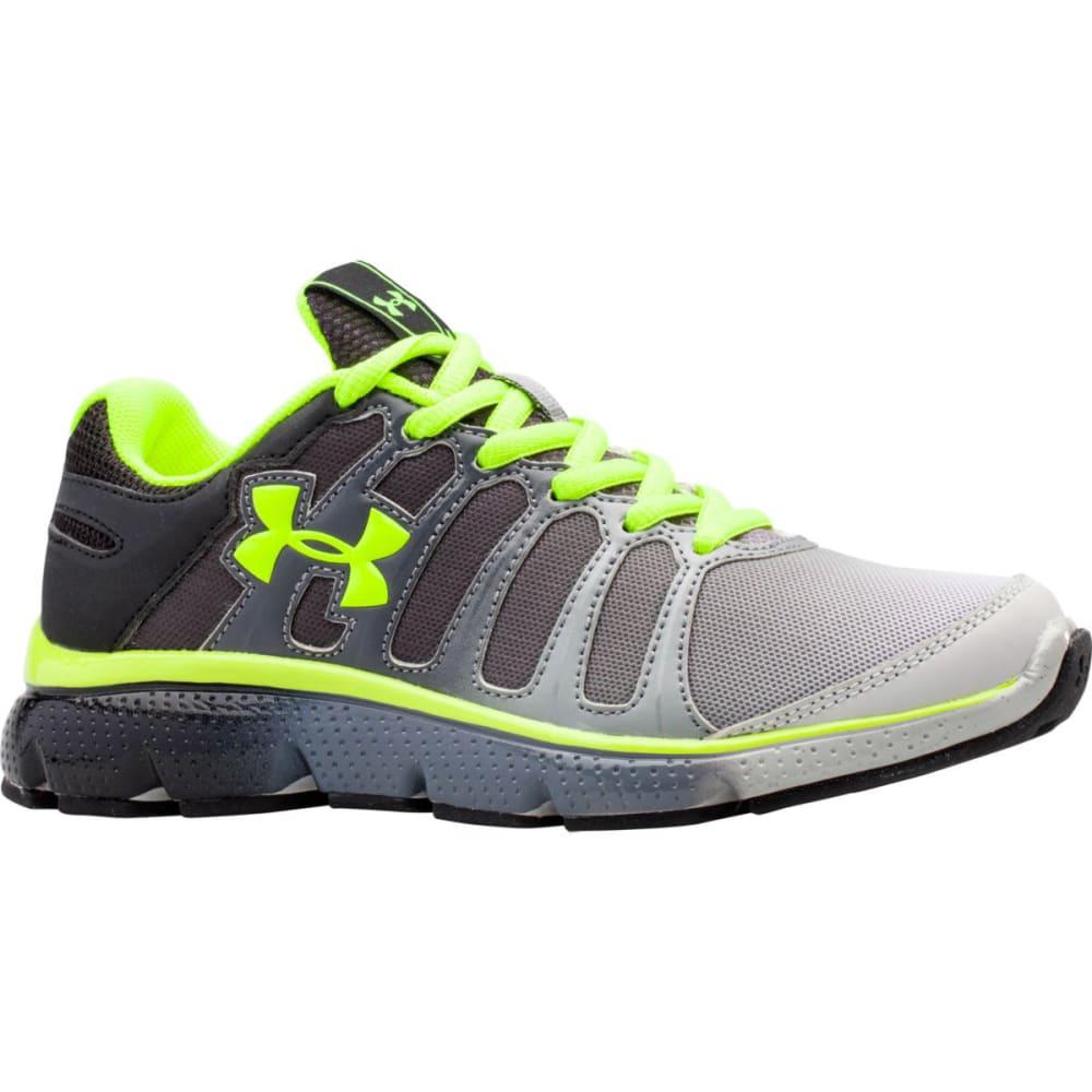 UNDER ARMOUR Boys' Pre-School Pulse II Fade Running Shoes - BLACK