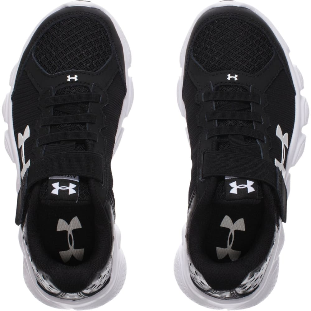 UNDER ARMOUR Boys' Assert 6 Running Shoes - BLACK/WHITE