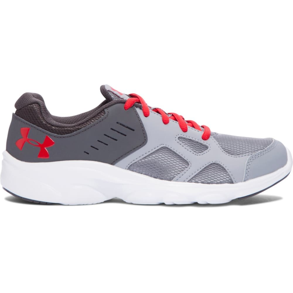UNDER ARMOUR Boys' Pace Running Shoes - STEEL