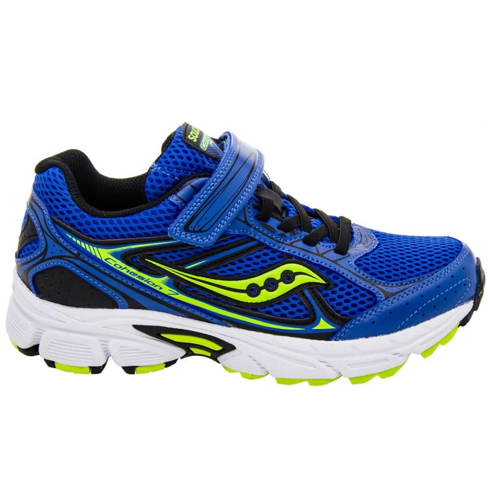 SAUCONY Boys' Cohesion 7 AC Shoes, Wide, Sizes 11-13/1-3 - ROYAL BLUE