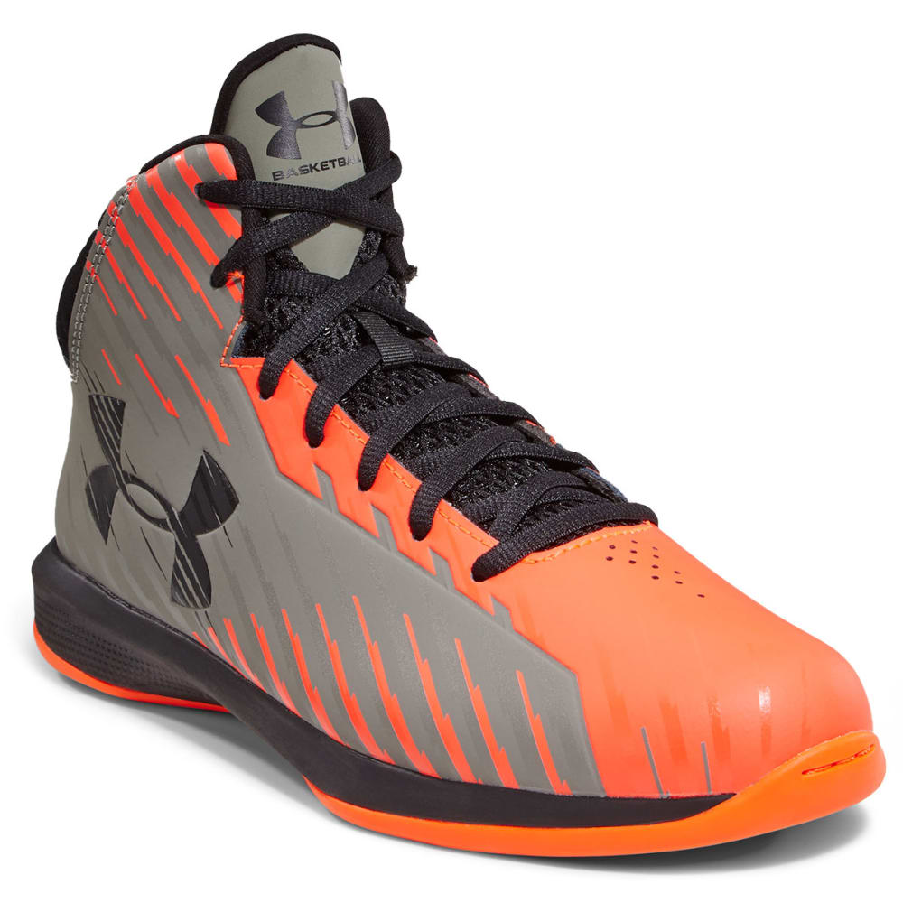 UNDER ARMOUR Boy's Grade School Jet Sneakers - ORANGE
