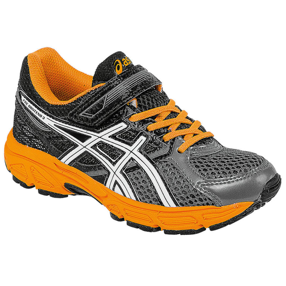 ASICS Boys' Pre-Contend 3, Wide - STEALTH LINE METER