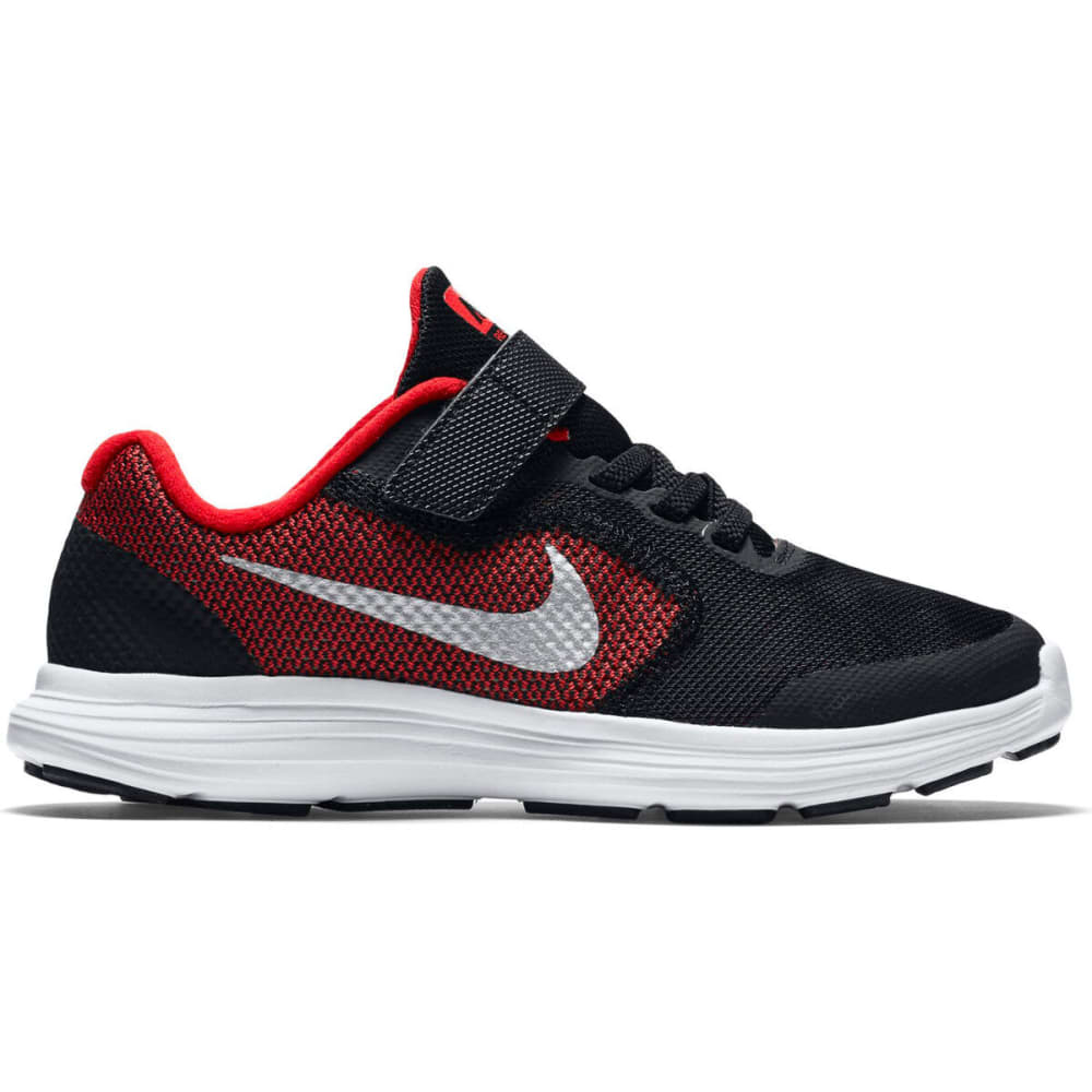 NIKE Little Boys' Revolution 3 Running Shoes, Wide - RED