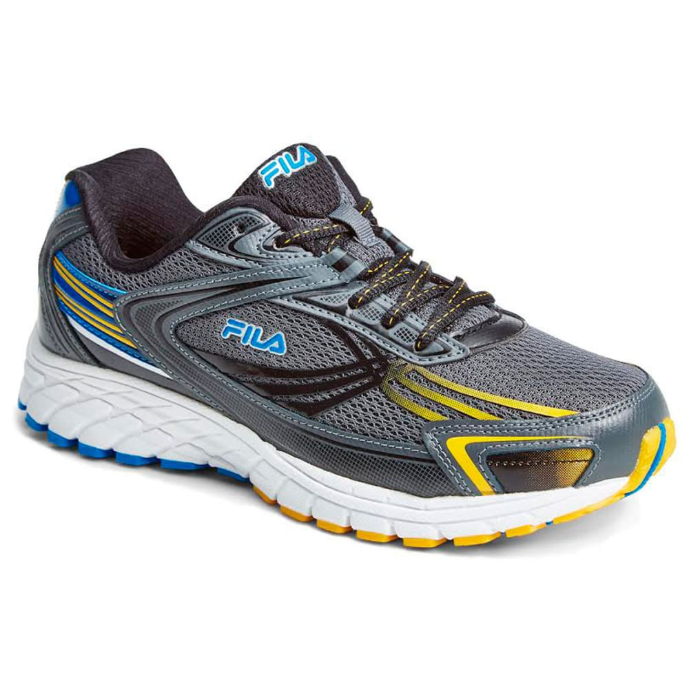 FILA Boys' Memory Nitro Fuel Running Shoes, Wide - CHARCOAL