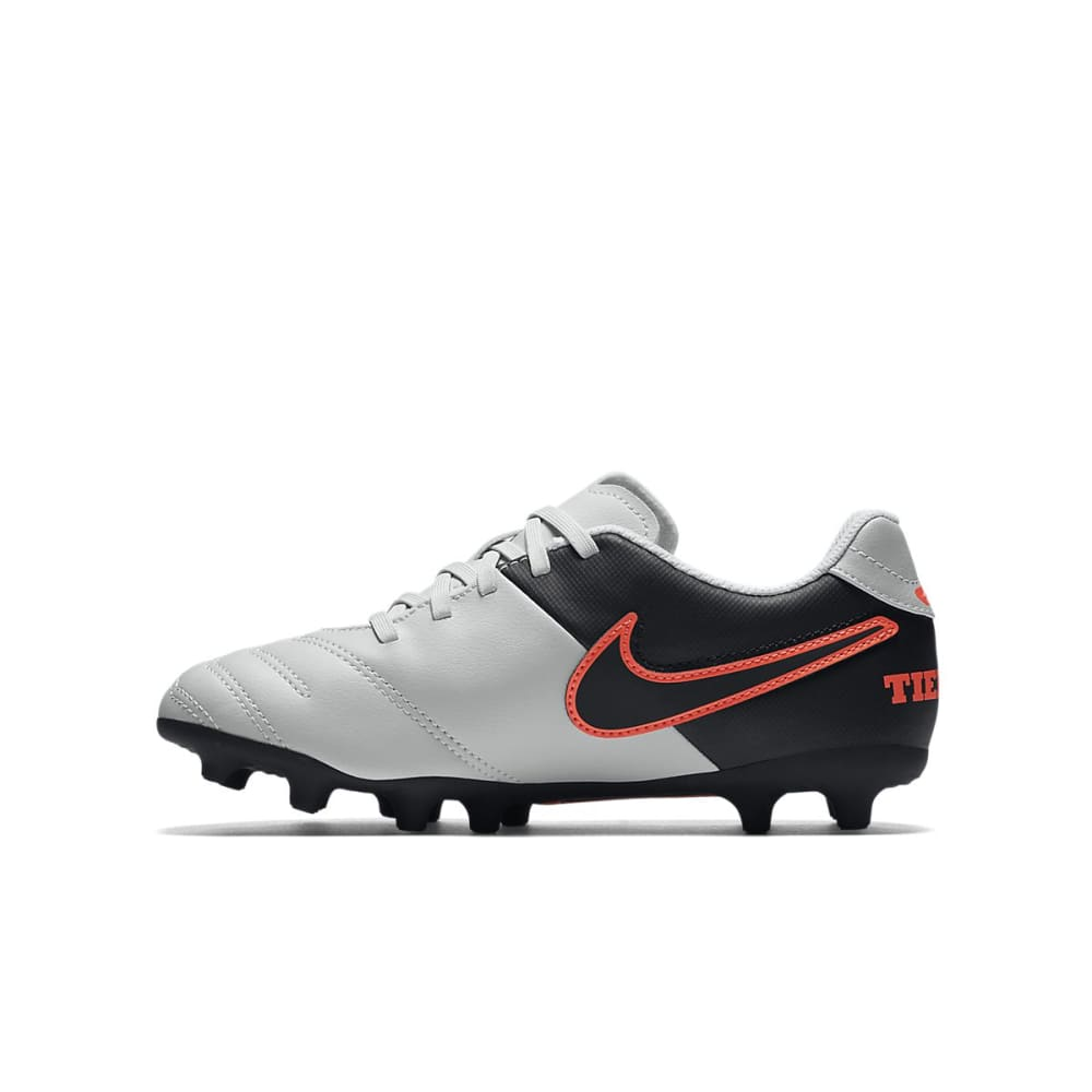 NIKE Kids' Jr Tempo Rio III FG-R Soccer Cleats - SILVER