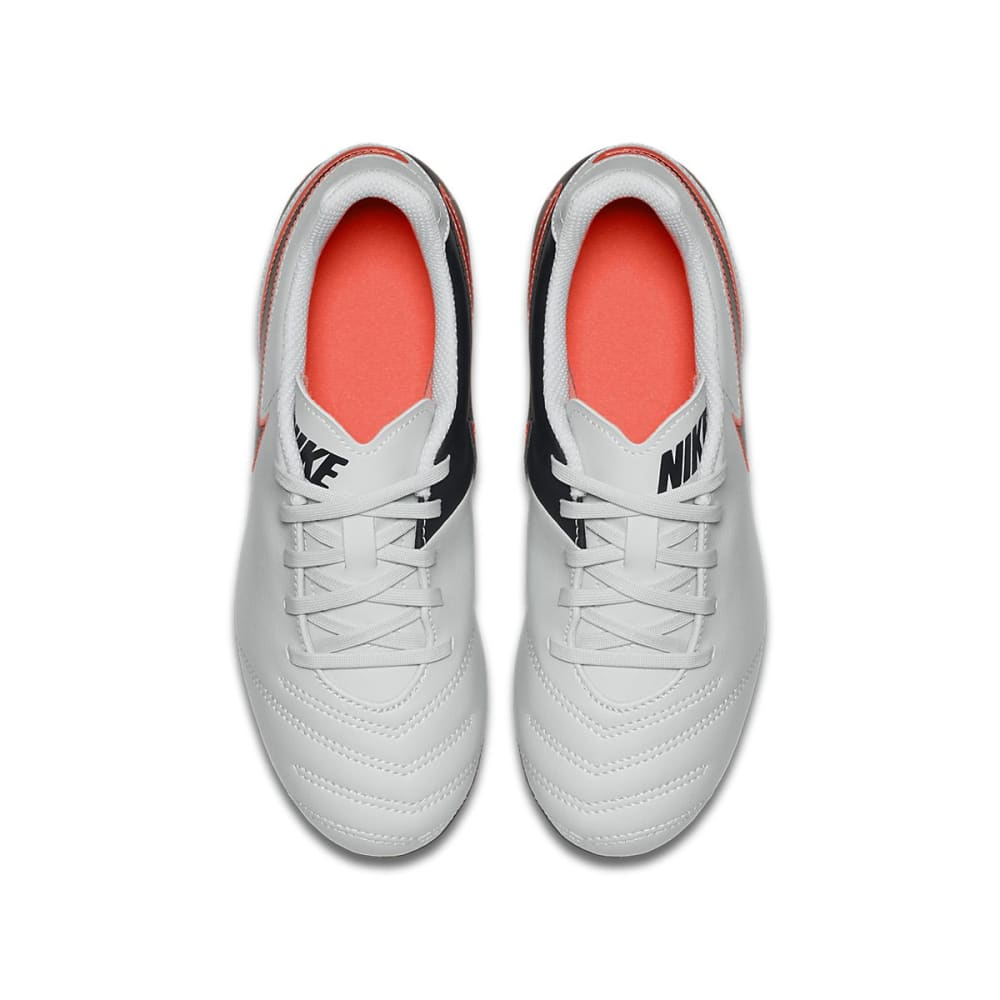 NIKE Kids' Jr Tempo Rio III FG-R Soccer Cleats - SILVER