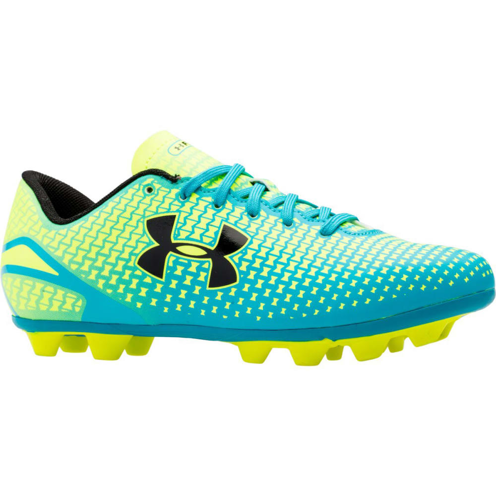 UNDER ARMOUR Kids' Speed Force HG Soccer Cleats - TEAL