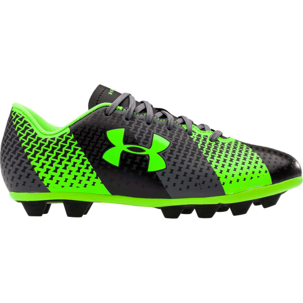 UNDER ARMOUR Youth CF Force HG Jr. Soccer Cleats - BLACK PTRND