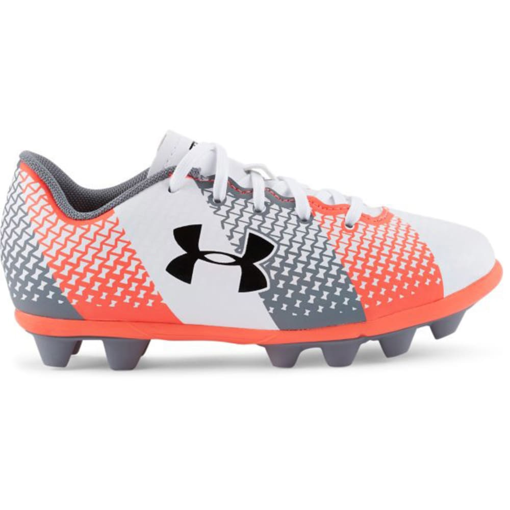 UNDER ARMOUR Kids' CF Force HG Jr. Soccer Cleats - WHITE PTRND