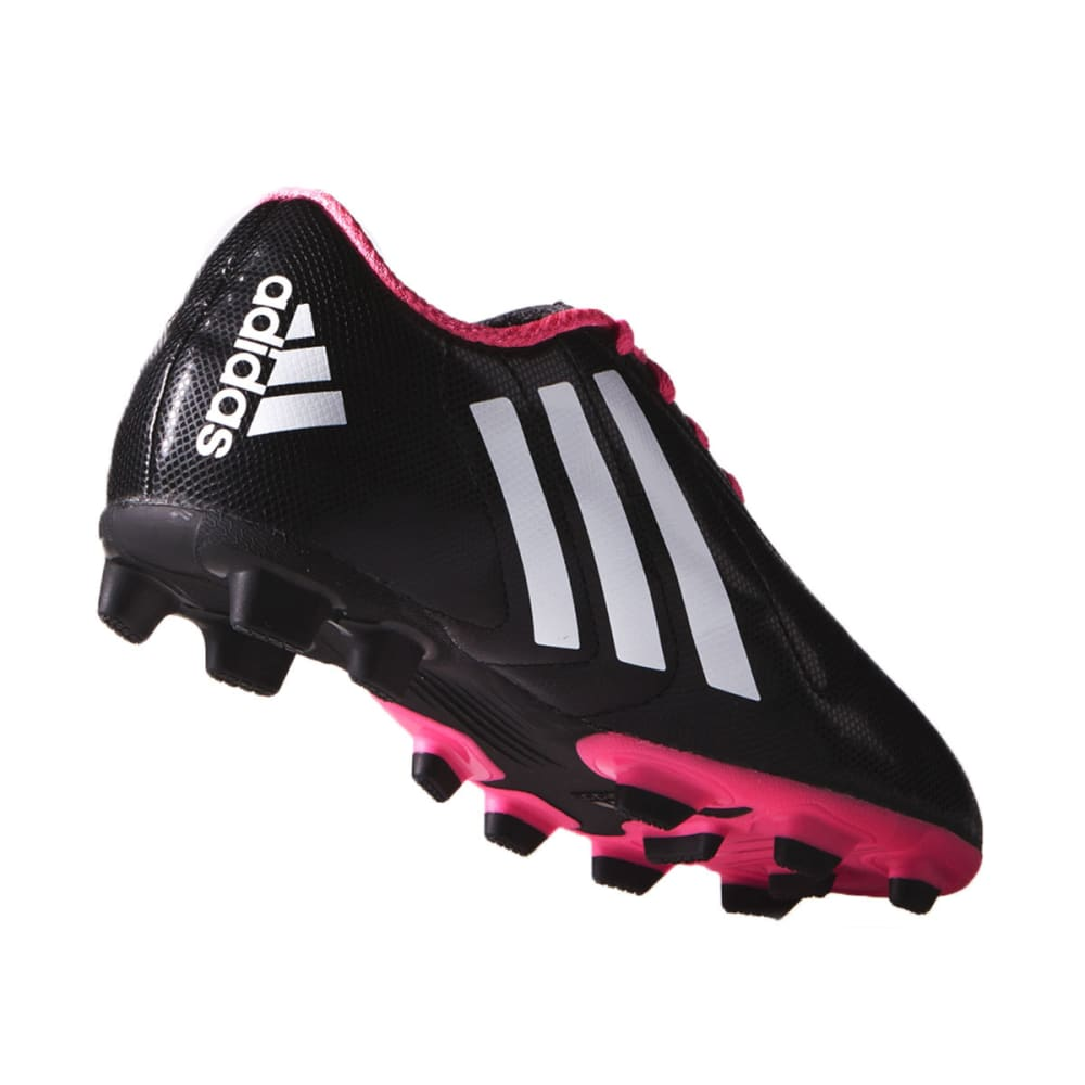 ADIDAS Youth Conquisto FG Soccer Cleats - BLK/PINK 1-6 -B25594