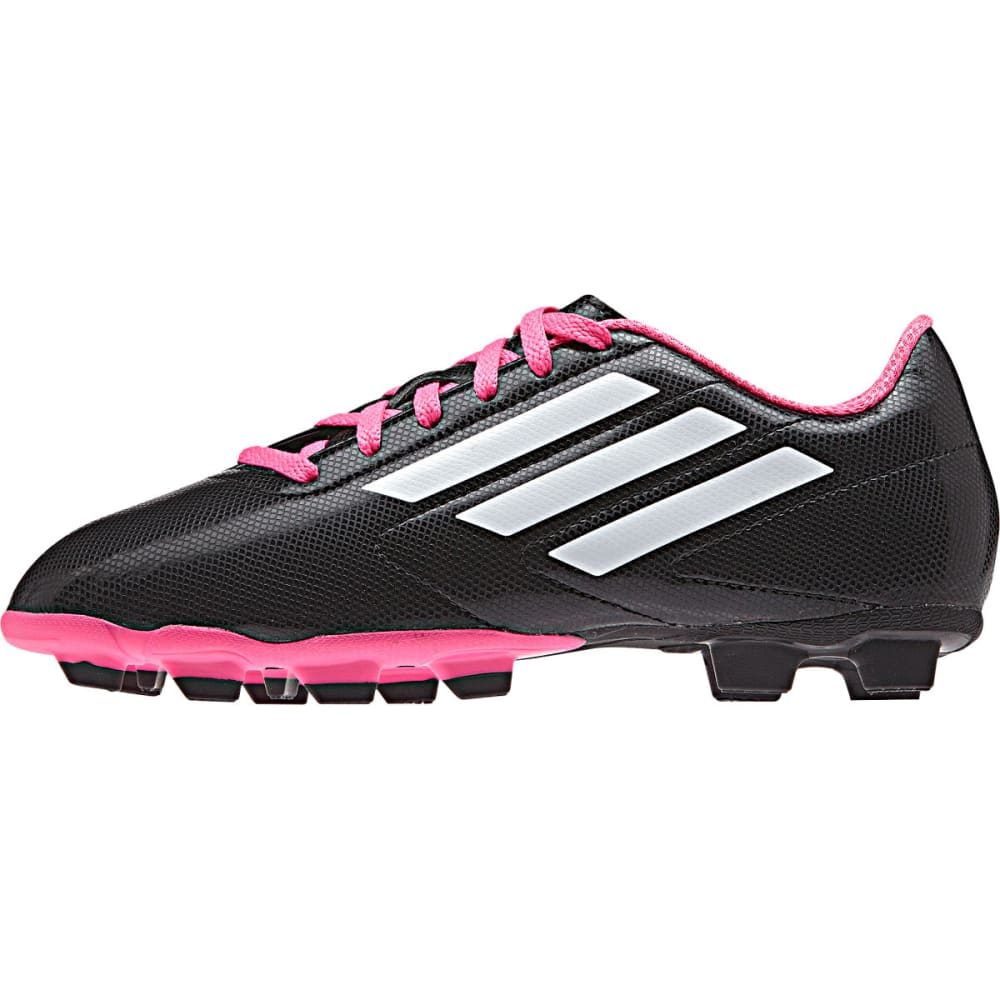 ADIDAS Kids' Conquisto FG Soccer Cleats - BLK/PINK 1-6 -B25594
