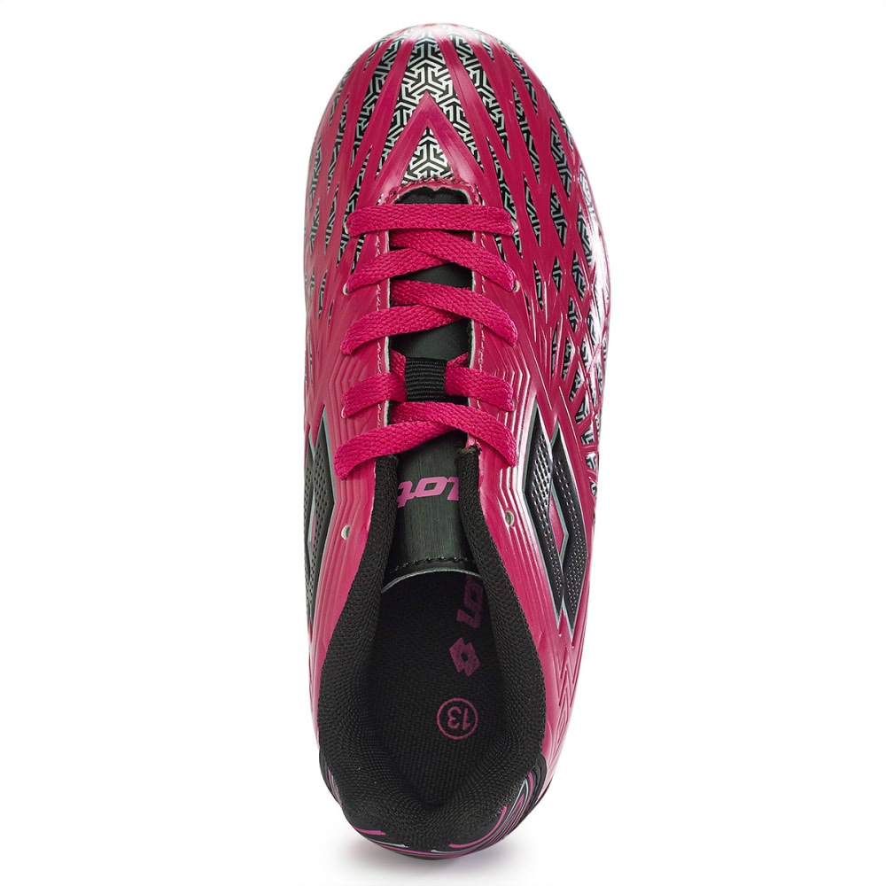 LOTTO Kids' Campione Soccer Cleats - HOT PINK 10-3