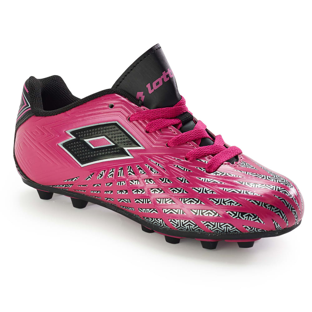LOTTO Kids' Campione Soccer Cleats - HOT PINK 3.5-6