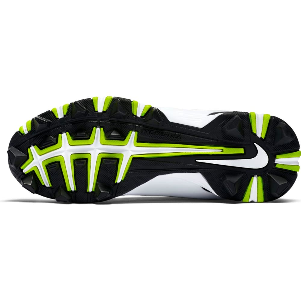 NIKE Kids' Huarache 2KFilth Keystone Mid Baseball Cleats - BLACK