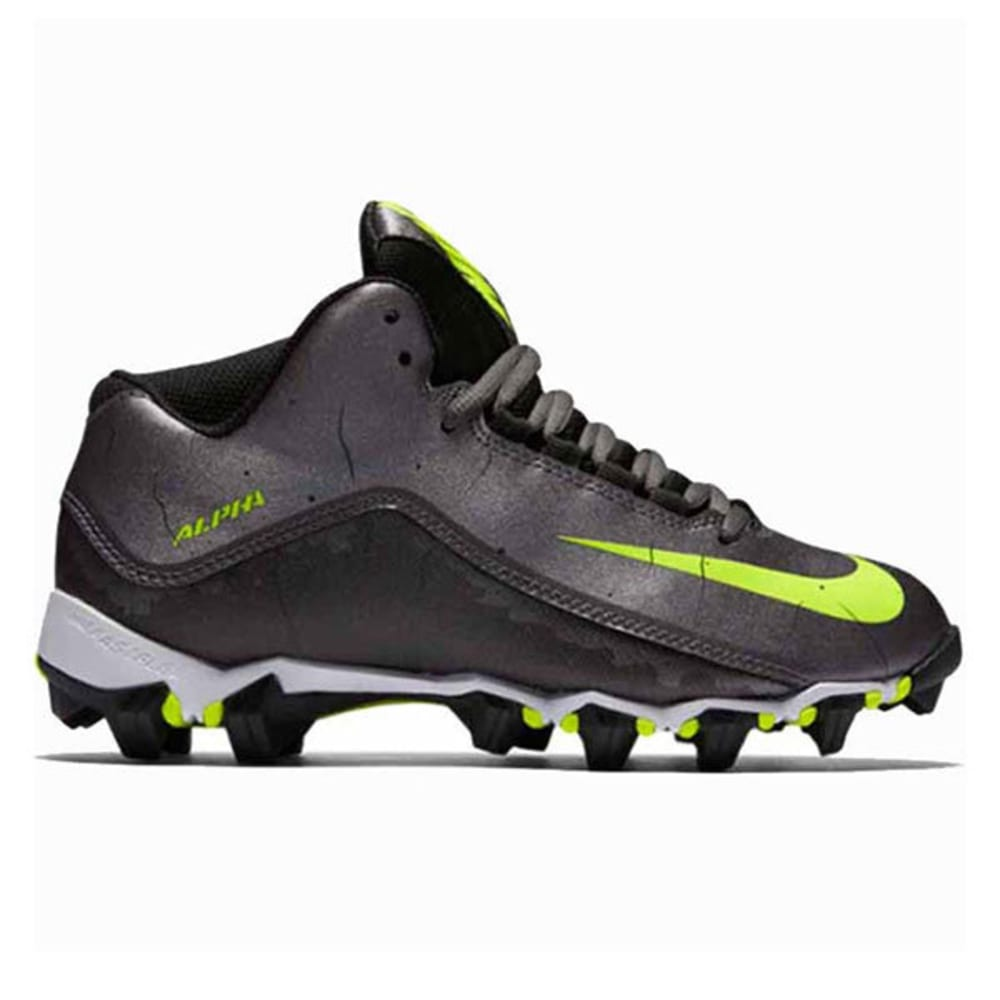 NIKE Boys' Alpha Shark 2 ¾ Football Cleats - CHARCOAL
