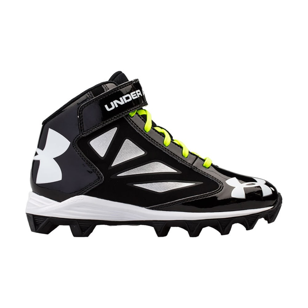 UNDER ARMOUR Youth Crusher Football Cleats - BLACK