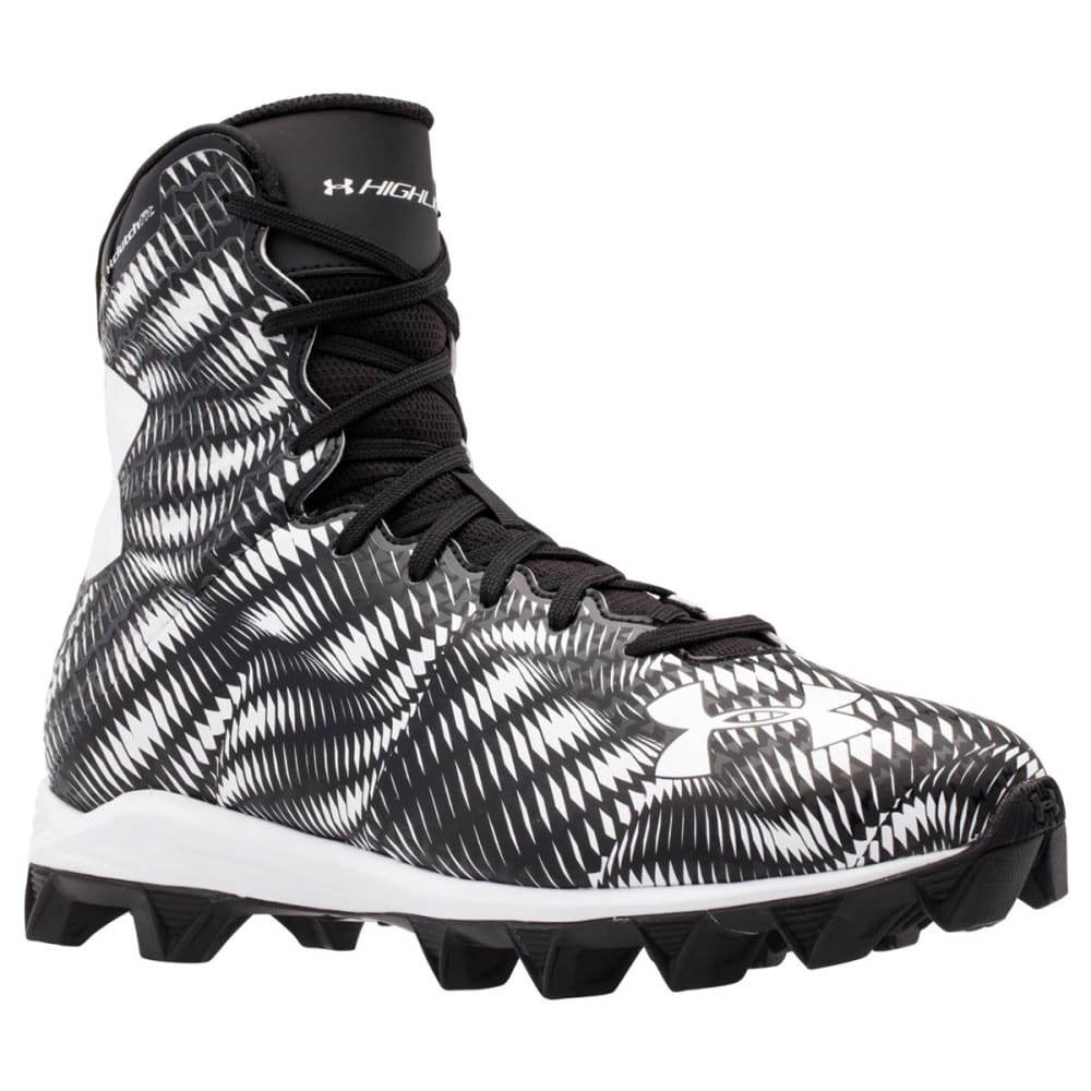 UNDER ARMOUR Boys' Highlight RM Football Cleats - BLACK/WHITE
