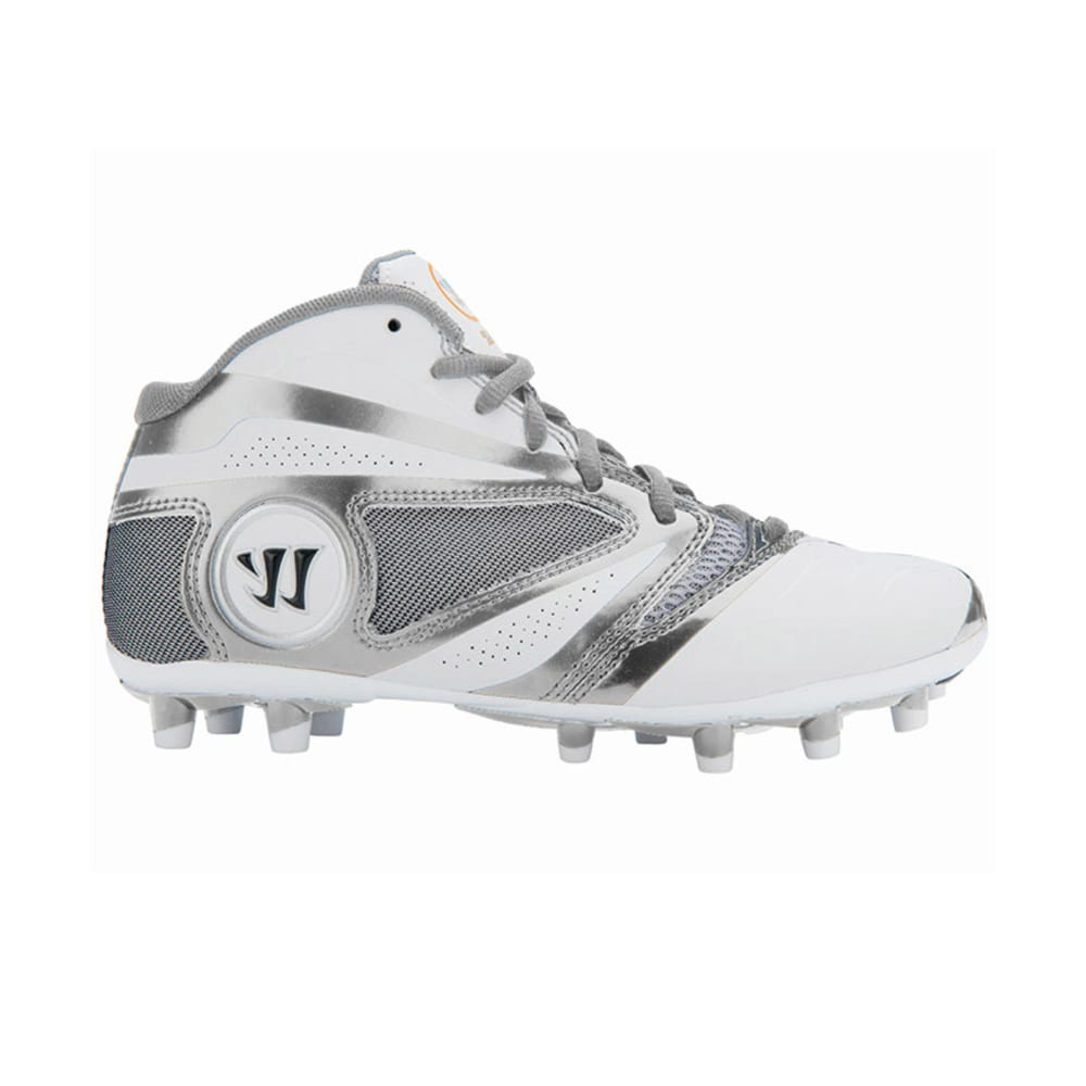 WARRIOR Youth Burn 7.0 Lacrosse Cleats - WHITE/GREY