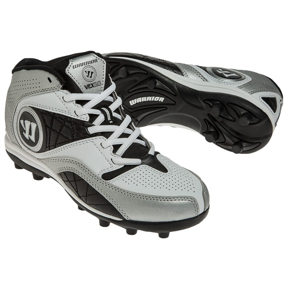 WARRIOR Youth Vex 2.0 Lacrosse Cleats - WHITE/BLACK