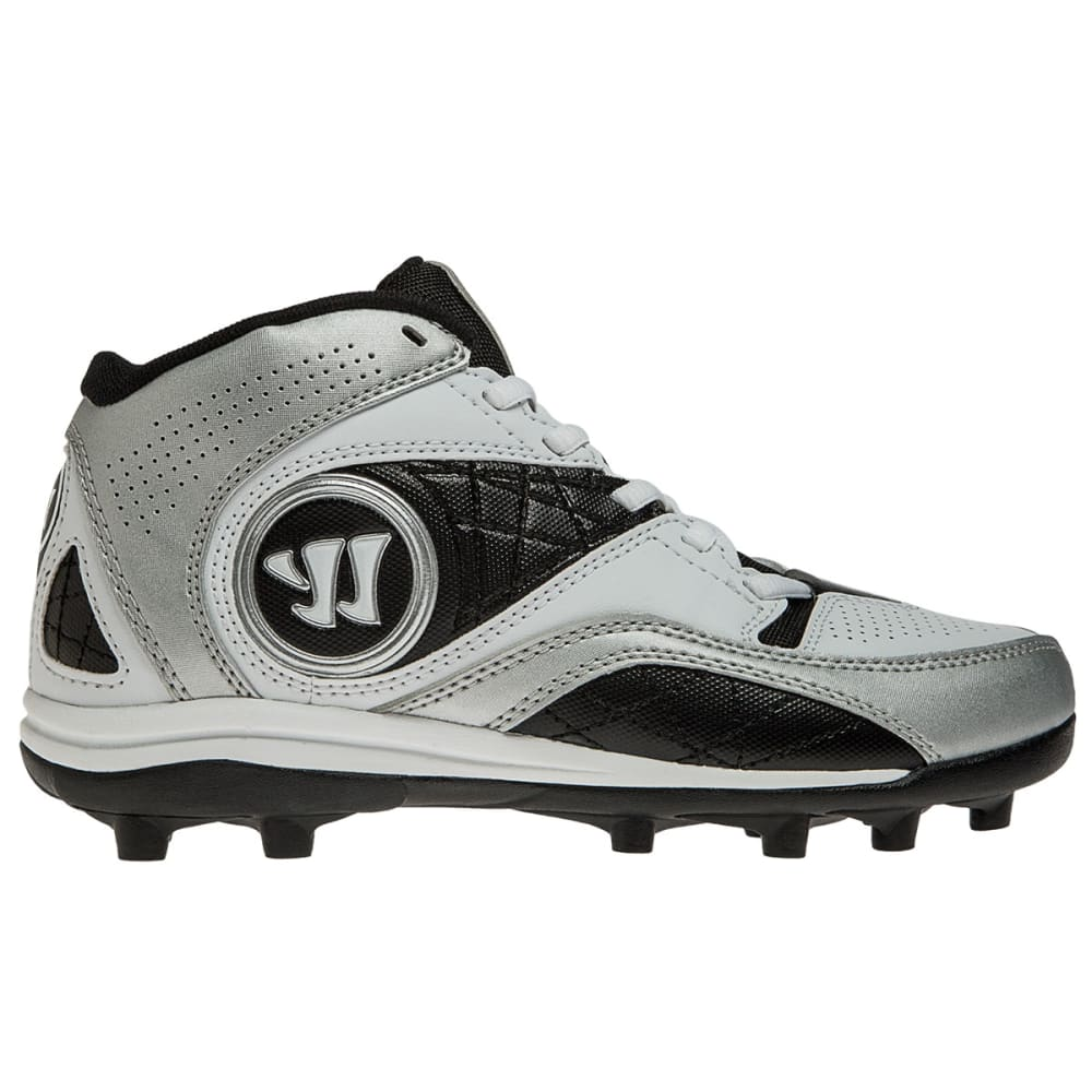 WARRIOR Kids' Vex 2.0 Lacrosse Cleats - WHITE/BLACK