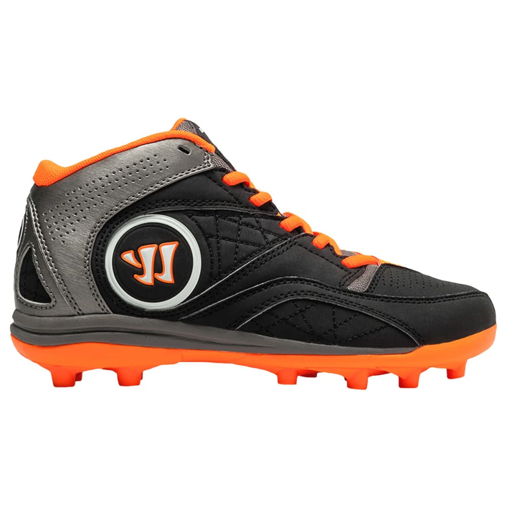 WARRIOR Kids' Vex 2.0 Lacrosse Cleats - BLACK/ORANGE