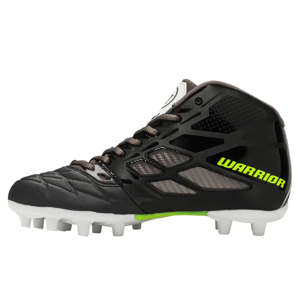 WARRIOR Boys' Burn 8.0 Junior Lacrosse Cleats - BLACK