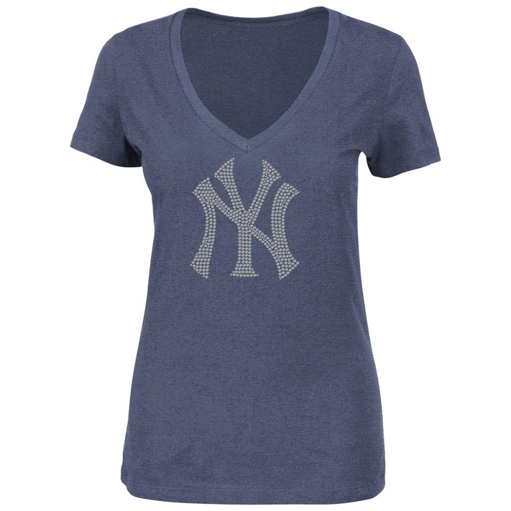 NEW YORK YANKEES Women's Dream of Diamonds V-Neck Tee - YANKEES