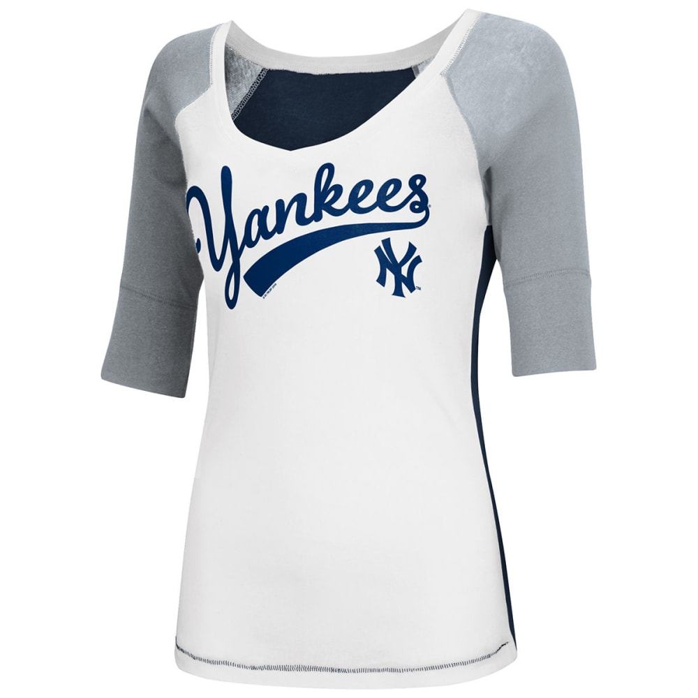 NEW YORK YANKEES Women's Home Run Raglan Tee - YANKEES