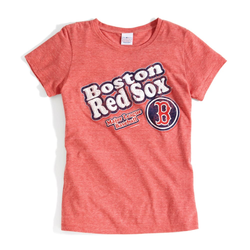 5TH and OCEAN CLOTHING Women's Boston Red Sox Bubble Script Red T-Shirt - RED