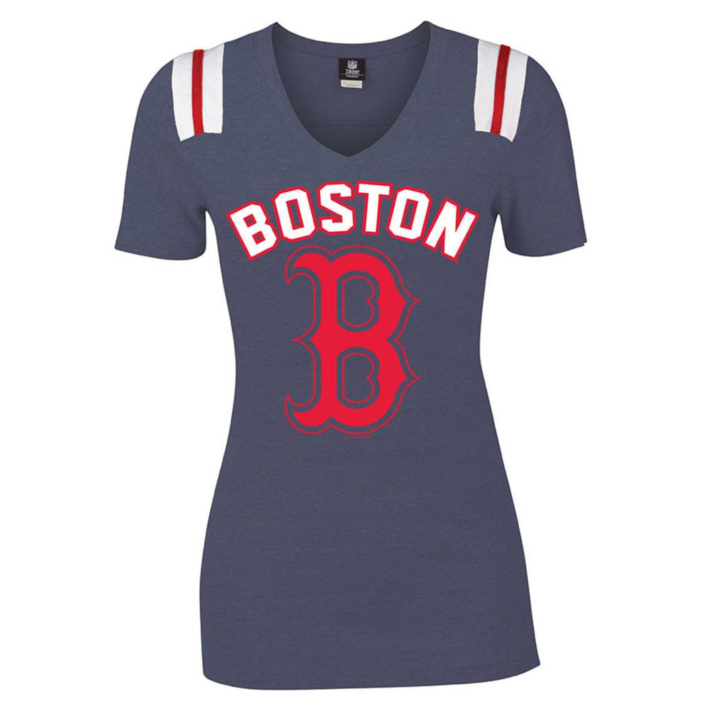 BOSTON RED SOX Women's Tee - HEATHER NAVY