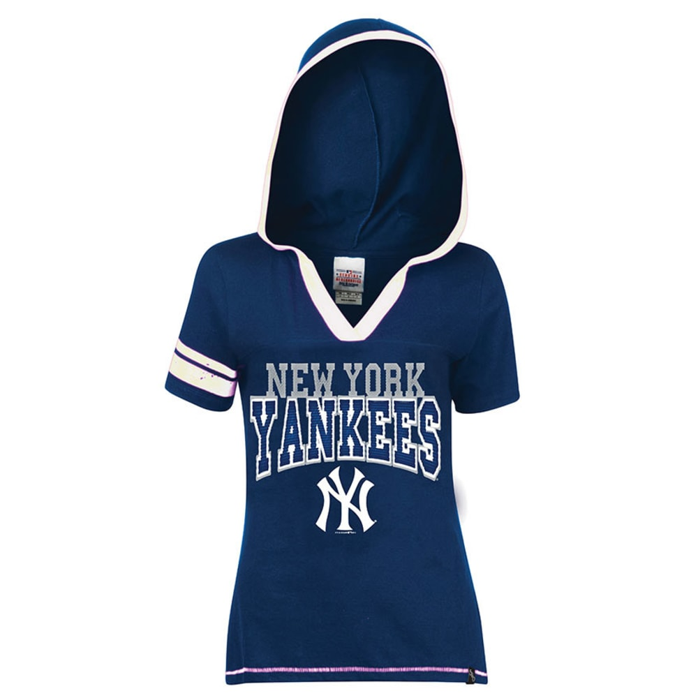 NEW YORK YANKEES Women's Hooded Tee  - NAVY